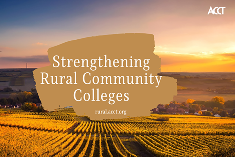 Strengthening Rural Community Colleges rural.acct.org over laid on farm